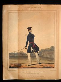 Mansion & Eschuazier 1830 HCol Military Print. 10th North Lincolnshire Reg